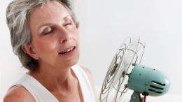 Research looks at cooling off hot flashes