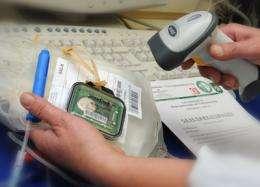 RFID chip monitors blood, sensitive freight