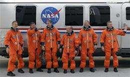Six-man crew aboard shuttle Atlantis' last flight (AP)