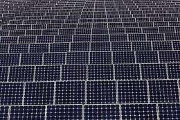 Solar panels generate electricity in Chicago