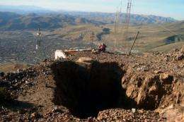 Some 4,300 tons of the Cerro Rico mountain - earth and precious minerals - are removed every day