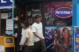 Staff at Yangon's cyber cafes are quick to help clients find proxy servers to bypass blocks on certain websites