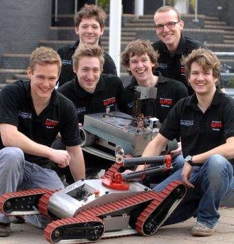 Warwick students take rescue robot to RoboCup Rescue Championship in Germany