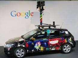 The camera of a Google street-view car, used to photograph whole streets