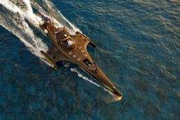 "The latest sea Shepherd speedboat ""Gojira"" cruises the waters off the coast of Perth, Australia"