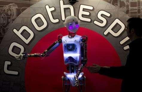 The life-sized humanoid robot named RoboThespian