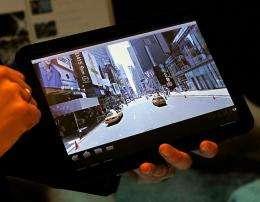 The Motorola Xoom Android Honeycomb tablet