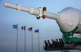 The nose of a Russian Soyuz TMA-20