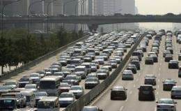 The number of vehicles on China's roads will more than double to at least 200 million by 2020
