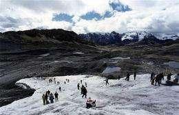 The Pastoruri snowcapped mountain