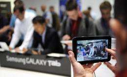 The planned launch of Samsung's Galaxy S smartphone comes amid growing rivalry with Apple at home and abroad