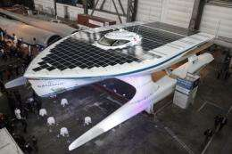 "The solar powered boat ""PlanerSolar"""