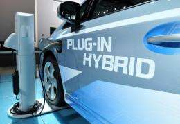 The Toyota Prius Plug-In Hybrid on display at the North American International Auto Show in Detroit