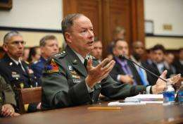 The US National Security Agency chief General Keith Alexander testifies in 2010