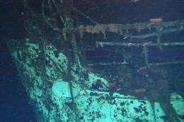 The wreck of the Australian hospital ship Centaur, lying at a depth of 2,059 metres, off Australia's northeast coast