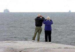 Tourists look at the Navy in Nova Scotia
