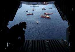 Vessels work at the site of the Deepwater Horizon accident