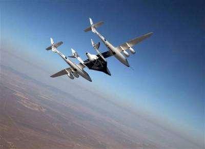 Virgin Galactic spacecraft makes 1st crewed flight