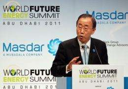 """""""We need a global clean energy revolution ... that makes energy available and affordable for all,"""" Ban said"""