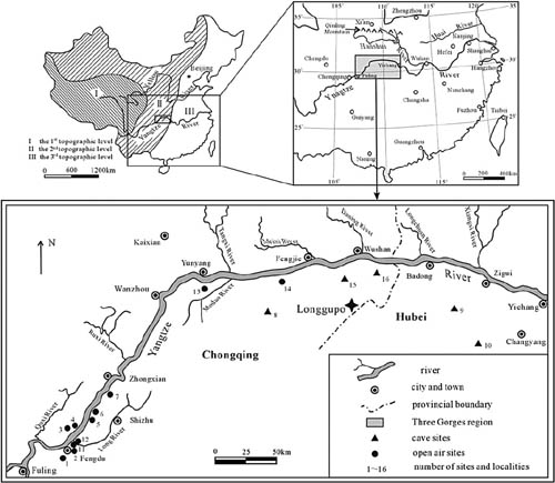 hominins already inhabited the three gorges region of