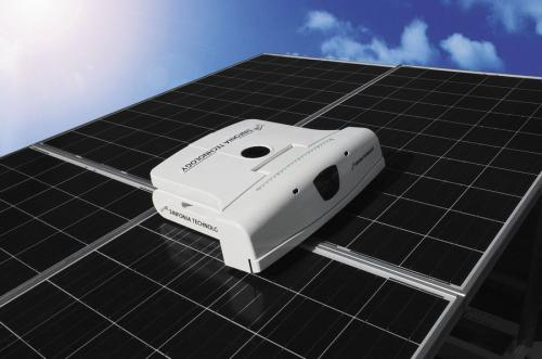 Robot With Brush Water Wiper Tackles Solar Panel Cleaning