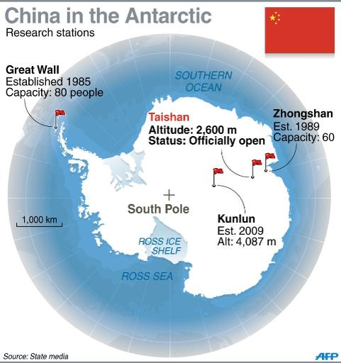 China Opens Fourth Antarctic Research Station - Antarctic research stations map