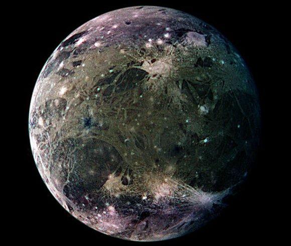 Jupiter's moon Ganymede. Credit: NASA