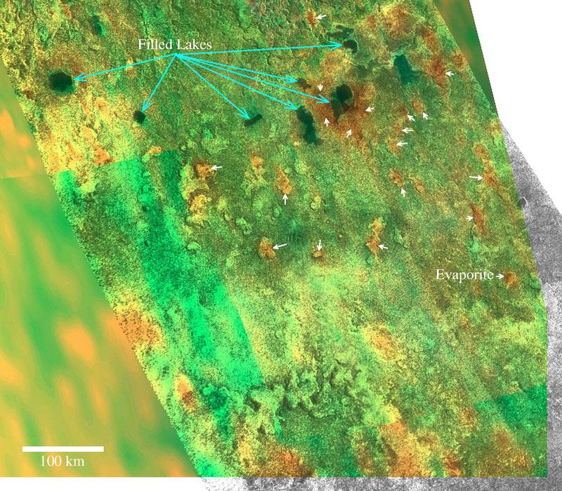 Bathtub rings\' suggest Titan\'s dynamic seas