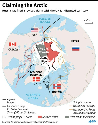Arctic Circle Russia Map.Russia Files Un Claim Over Vast Swathe Of Arctic
