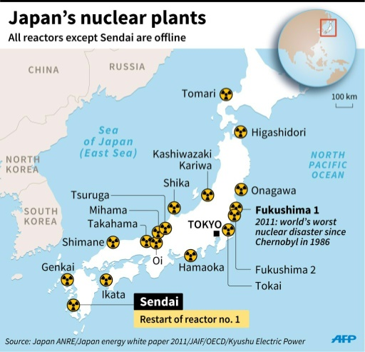 Nuclear Power Plants Map