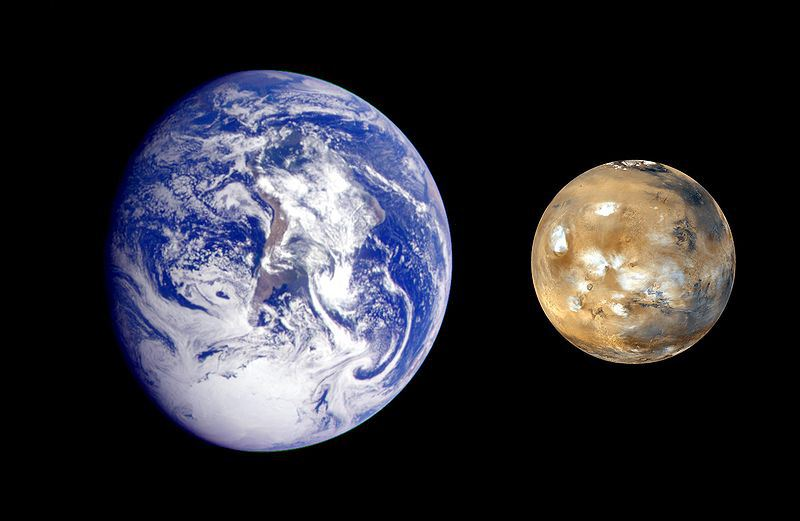 mars compared to earth rh phys org Saturn Size Compared to Earth Venus vs Earth-size