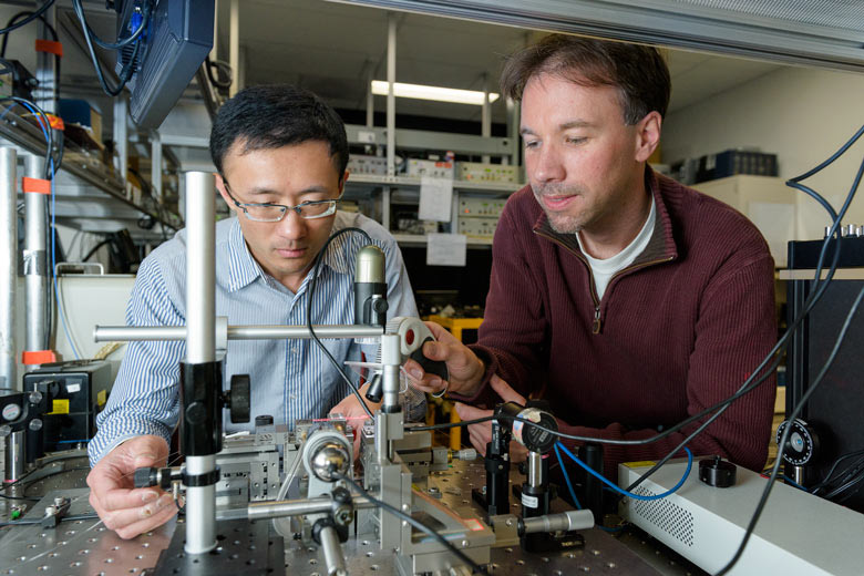 Physicists set quantum record by using photons to carry messages from electrons almost 2 kilometers apart