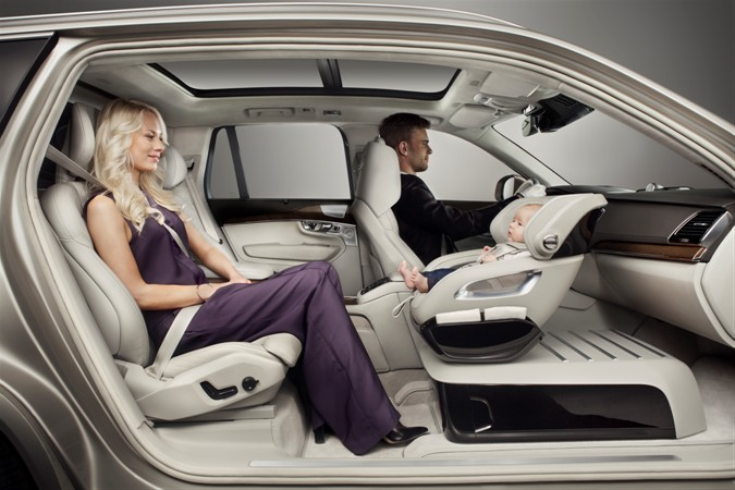 Volvo Cars design team offers concept in rearward baby seating
