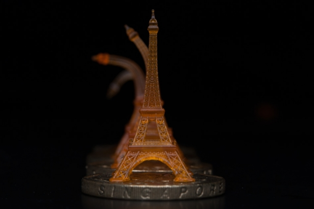 A Shape Memory Eiffel Tower Was 3 D Printed Using Projection  Microstereolithography. It Is Shown Recovering From Being Bent, After  Toughening On A Heated ...