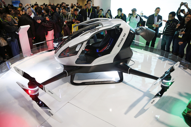 Chinese Drone Maker Unveils Human Carrying