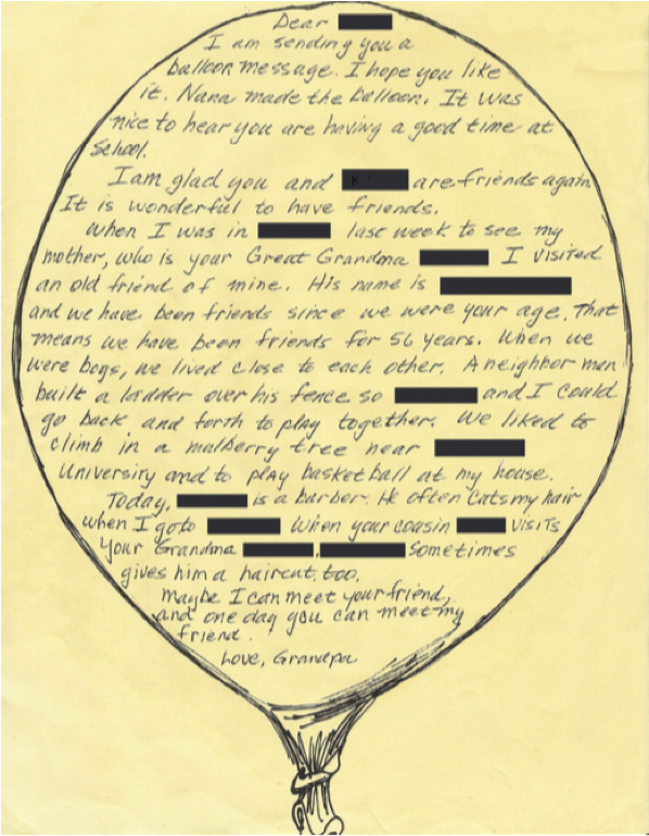 one childs grandfather wrote a response about his best childhood friend credit k pole