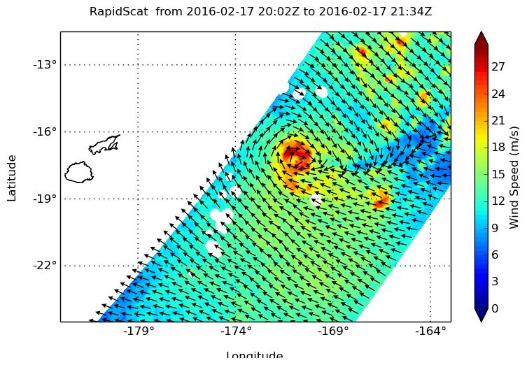 Nasa Sees Tropical Cyclone Winston U Turn Toward Fiji
