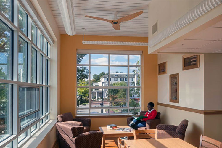 In search of energy efficient comfort through smart ceiling fans ceiling fans provide comfort and save energy at berea colleges deep green residence hall the first student residence hall certified under the living aloadofball Choice Image