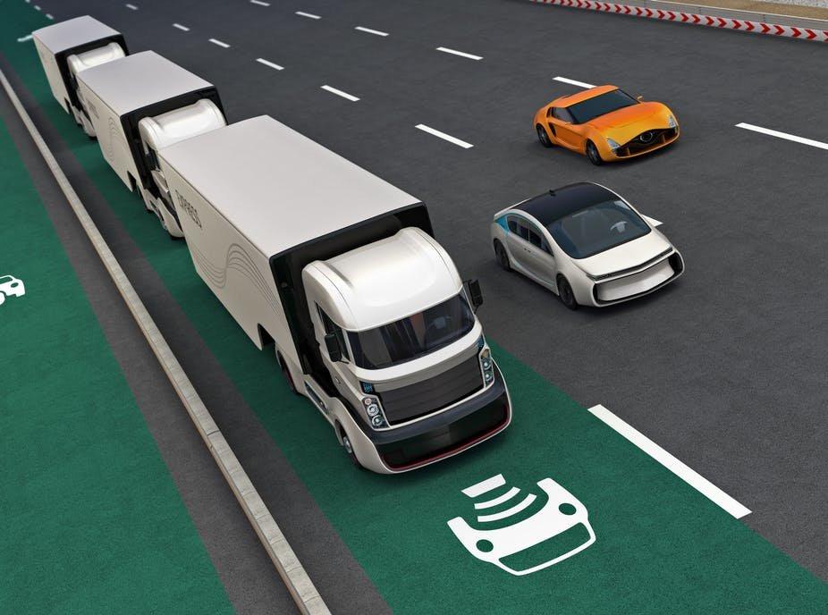 Image result for autonomous truck platooning
