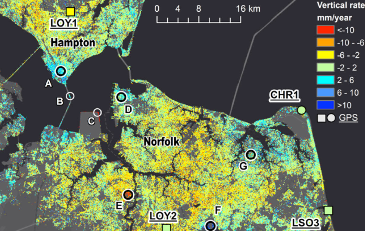 NASA finds Virginia metro area is sinking unevenly