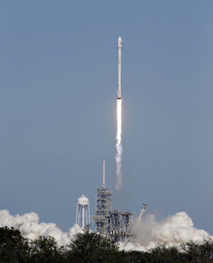 a falcon 9 spacex rocket carrying a koreasat 5a communications satellite lifts off at the kennedy space center in cape canaveral fla monday oct 30