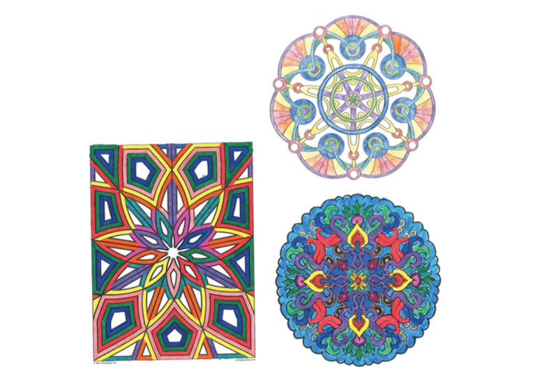 Examples Of The Colored In Designs From Coloring Portion Study Credit Drexel University