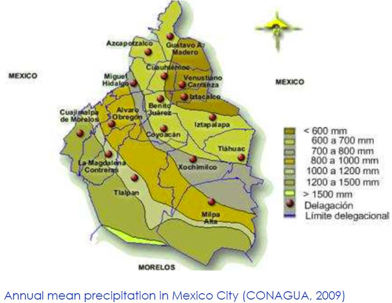 Columbia Mexico Map.To Ease Mexico City S Water Woes Look Up Study Suggests