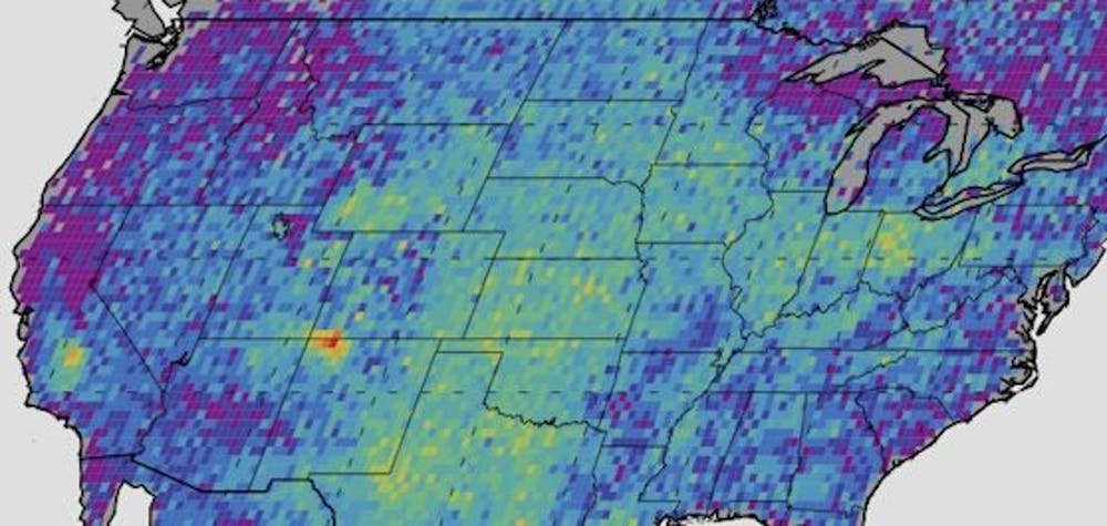 How has air quality been affected by the US fracking boom