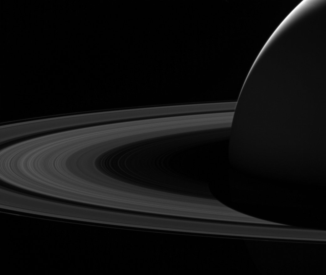 Image: Goodbye to the dark side of Saturn