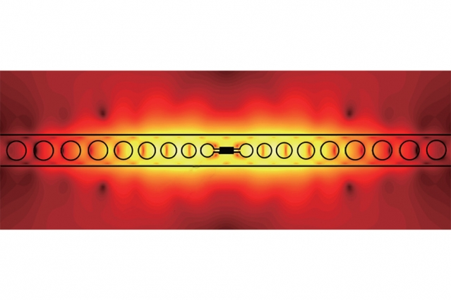 Prototype device enables photon-photon interactions at room temperature for quantum computing