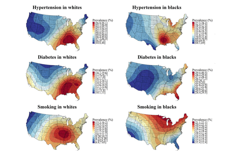 Risk Factors Centered In Southeast United States - Southeast united states
