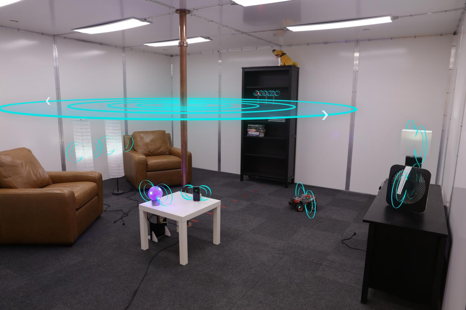 Wireless power transmission safely charges devices anywhere within a