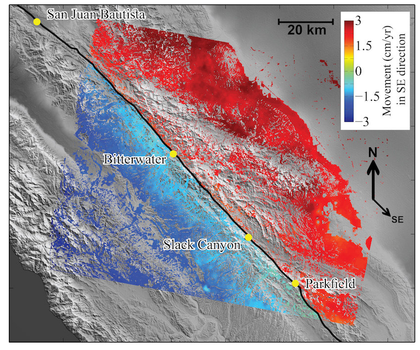 Slow earthquakes\' on San Andreas Fault increase risk of large quakes