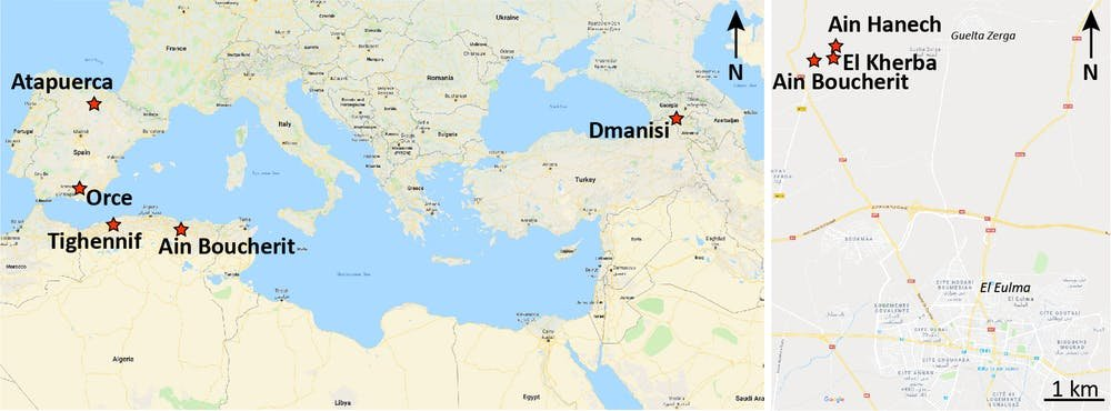Dmanisi Georgia Map.Stone Tools Date Early Humans In North Africa To 2 4 Million Years Ago